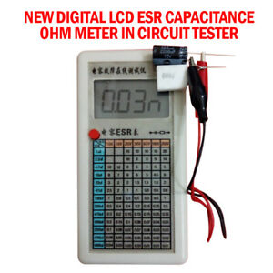 1pc New Digital Lcd Esr Capacitance Ohm Meter In Circuit Tester 0 01 99