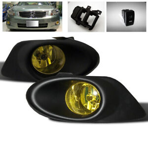 For 2008 2009 2010 Honda Accord 4dr Ex Lx Front Bumper Yellow Fog Light Kit New