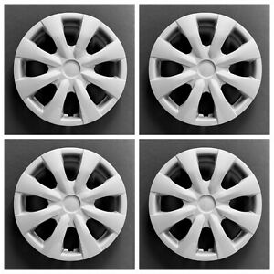 New Wheel Covers Hubcaps Fits 2009 2013 Toyota Corolla 15 Silver Set Of Four