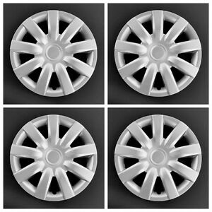 New Wheel Covers Hubcaps Fits 2004 2005 2006 Toyota Camry 15 Silver Set Of 4