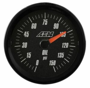 Aem Electronics 30 5135 Analog Gauges Oil Pressure Gauge Sae Measurement0 150psi