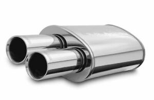 Magnaflow Stainless Muffler W tips Street Series Inlet outlet 2 25in 3in 14815