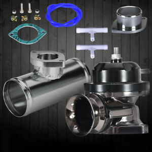 Universal Billet Aluminum Type rs Turbo Blow Off Valve Bov 2 5 flange Pipe Black