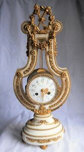 Tiffany Co French Mantle Clock Jeweled Face Marble Ormolu