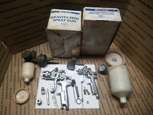 Blue Point Snap On Tools Hvlp Spray Paint Gun Lot Of Both Free Shipping Vintage