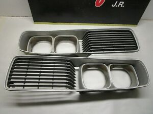 1973 1974 Dodge Charger Front Grille Pair With Headlight Bezel Rally