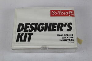 Coilcraft C119 Designer s Kit Maxi Spring Air Core Inductors as Shown In Image