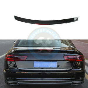 With Reflector Rear Tail Trunk Lip Spoiler Wing Fit For Audi A6 C7 C7 5 2012 18