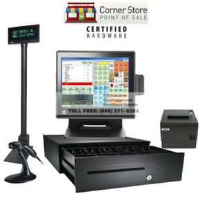 Retail All in one Complete Pos System Corner Store Pos With Hp 8gb I5 Ssd