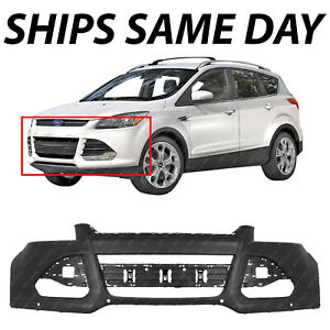 New Primered Front Bumper Cover Fascia For 2013 2016 Ford Escape W Park Assist