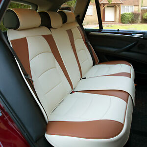 Car Suv Truck Leatherette Seat Cushion Covers Rear Bench Seats Beige