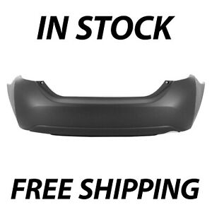 New Primered Rear Bumper Cover Replacement For 2014 2019 Toyota Corolla Sedan