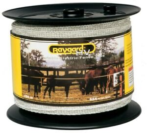 Baygard 00680 656 White High Visibility Electric Fence Tape