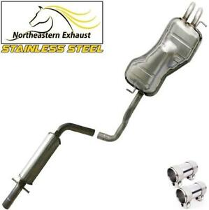 Stainless Steel Exhaust System Kit Fits 1998 2010 Volkswagen Beetle Golf