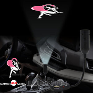 Sexy Lady Heart Usb Cigarette Lighter Car Led Laser Projector Ghost Shadow Light