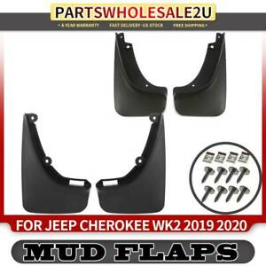 4x Splash Guard Mud Flaps Mudflaps For Jeep Cherokee Kl 2019 2020 Front