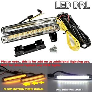 Switchback 36 Led Drl Bumper Sequential Running Light Driving Universal Toyo