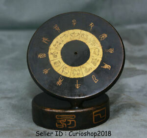 4 4 Rare Old Chinese Bronze Ancient Times Period Calculagraph Sundial Compass