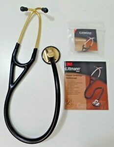 3m Littmann Master Cardiology Stethoscope Black Tube brass finish 27 2175