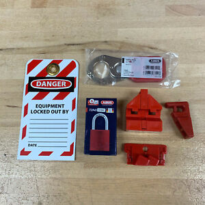 Personal Lockout Tagout Kit With Aluminum Lock 1 Steel Hasp Tag