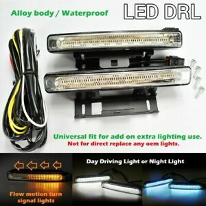 3 Color 54 Led Drl Bumper Sequential Running Light Driving Lamp Universal Ch2
