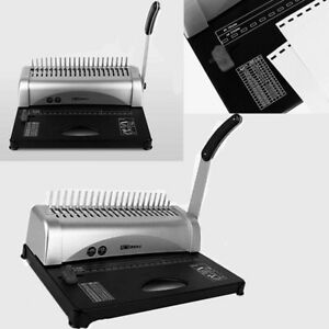 450 Sheets Binding Machine Puncher Hole System Office Home Paper Spiral Binder