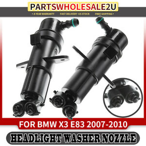 2x Headlight Washer Nozzles For Bmw E83 X3 07 10 Front Left right 61673416467