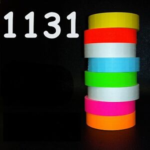 Monarch 1131 Style Labels 8 Rolls White red green yellow orange blue pink