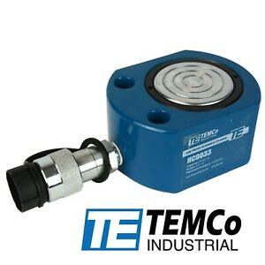 Temco Hc0033 Low Profile Height Hydraulic Cylinder Puck 30 Ton 0 51 Stroke