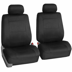 Two Front Car Seat Covers 100 Waterproof Polyester Neoprene Black