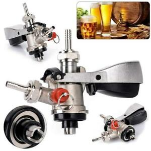 Stainless Steel Keg Coupler Draft Beer Dispenser Wine Bar Brew Tools Tap Faucet