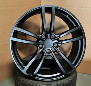 New Set Of Four 22x10 5x130 55 Satin Black Vw Touareg Cayenne Turbo Gts