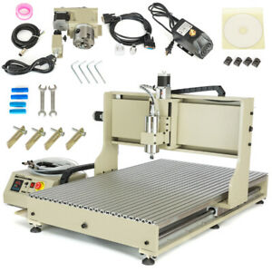 2200w Usb 4axis 6090 Cnc Router Machine Engraver Spindle Motor Woodwork Cutter