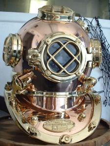 Copper Brass London Scuba 18 Divers Diving Helmet Royal Navy Marine