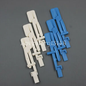 5 X Dental X ray Film Holder Clip White blue Plastic Clamp Radiograph Positioner
