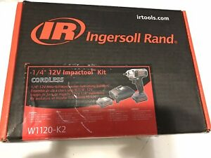 Ingersoll Rand 1 4 12v Impactool Kit Cordless W1120 K2 With Two Batteties