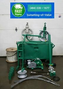 Greenlee 686 640 4000 Lbs Cable Wire Tugger Winch with Lots Of Extras
