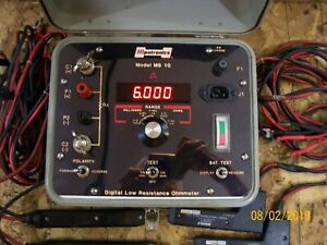 Hipotronics avo Biddle 10 Amps Model Mb 10 Digital Low Resistance Ohmmeter
