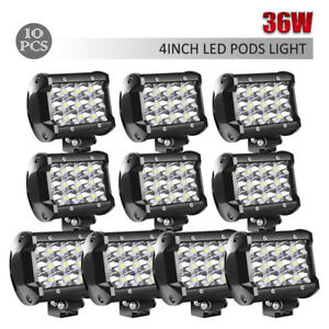 10x 36w 4inch Led Work Light Bar Spot Offroad For Atv Boat Truck 4wd Lamp Ch30e