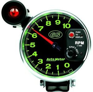 New 330 Autometer 3899 Gs Series 5 Monster Tachometer With Shift Light 10k Rpm