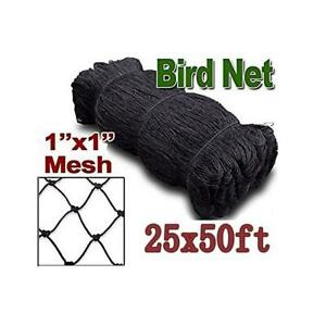 Netting For Bird Poultry Aviary Game Pens New 1 Square Mesh Size 25 X 50 Net