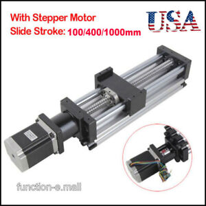 100 1000mm Ball Screw Linear Cnc Slide Stroke Long Stage Actuator Stepper Motor