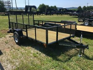 New 6x12 Gator Landscape Utility Trailer With Mesh Sides