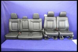 2011 2014 Ford F150 Pickup Truck Crew Cab Platinum Front Rear Leather Seats