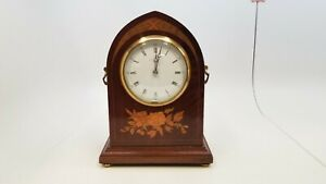 Marcus Co New York 8 1 2 Tall Wooden Mechanical Mantle Clock As Is