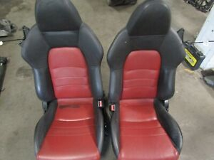 06 09 Honda S2000 Black red Leather Seats Oem Ap2 Ap1