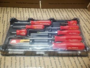 Mac 8 Pc Combination Comfort Grip Screw Driver Set Made In Usa Quality Free Ship