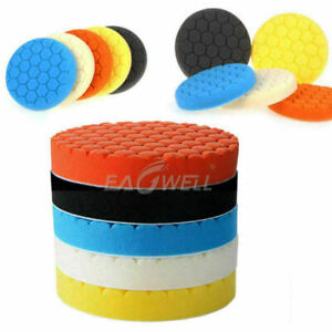 5pcs 3 4 5 6 7 Buffing Polishing Pad Foam For Car Polisher Buffer Multi Color