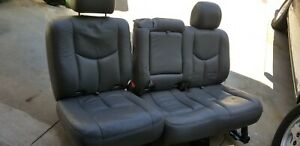 00 06 Chevy Tahoe Yukon Escalade Gray Leather 2nd Row Bench 60 40 Seats Seat