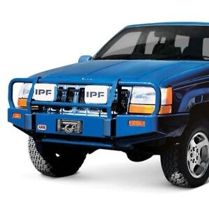 For Jeep Grand Cherokee 93 98 Bumper Deluxe Full Width Black Front Winch Hd